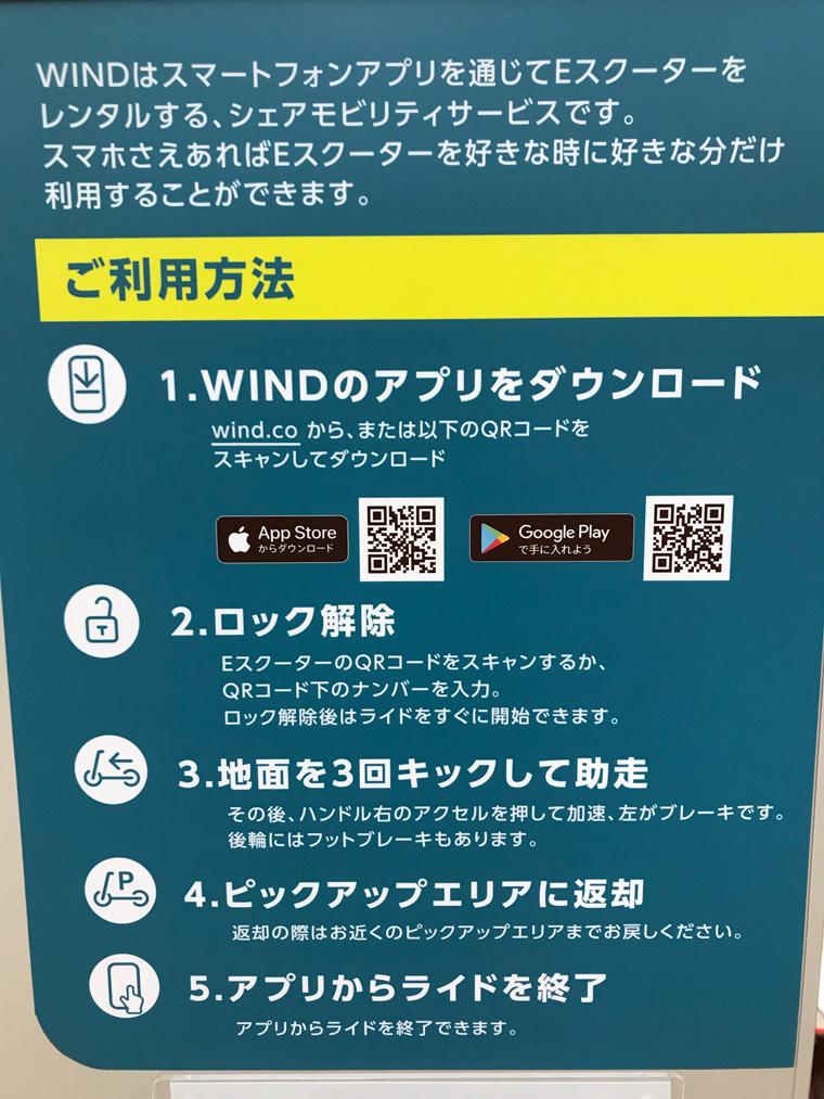 WINDの利用方法について